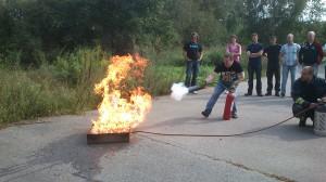 Släckning av brand